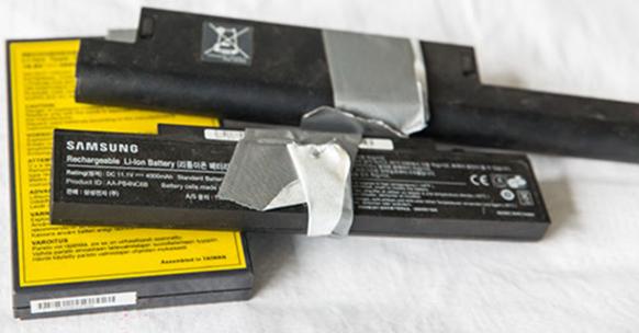 Lithium-Akkus mit Kurzschlusssicherung